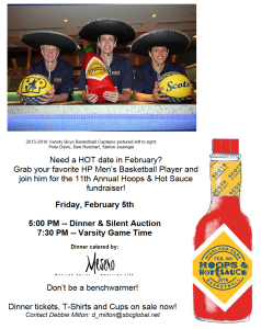 hoops and hot sauce flyer